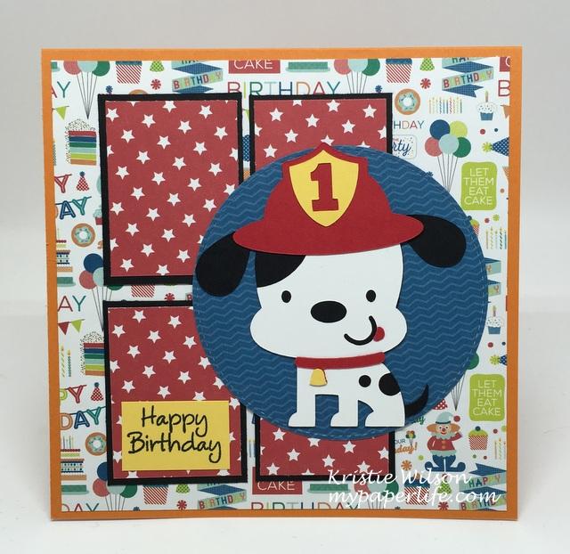 2016 Card 39 - Kaleb bday card Cricut Create a Critter