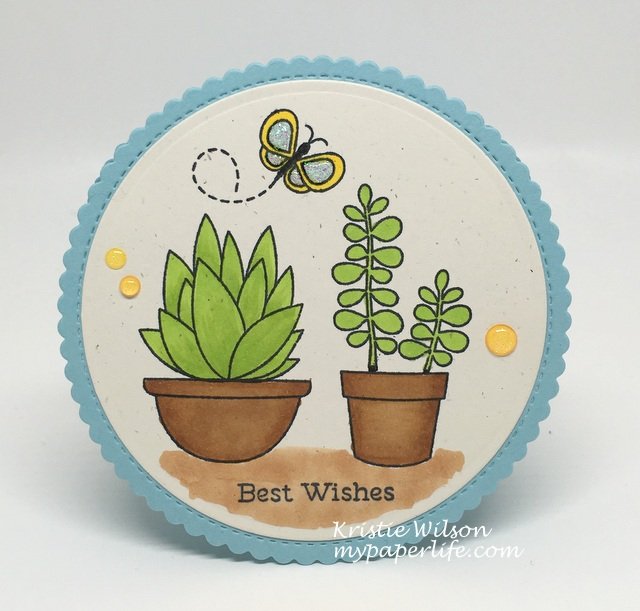 2016 Card 48 - MFT Sweet Succulents Fly By Friends