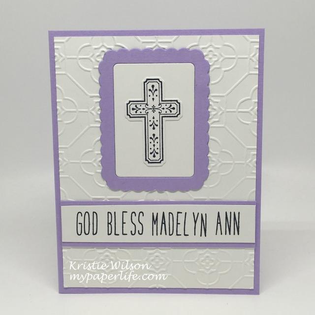 2016 Card 59 - Madelyn baptism card