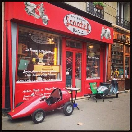 vintage car paris red