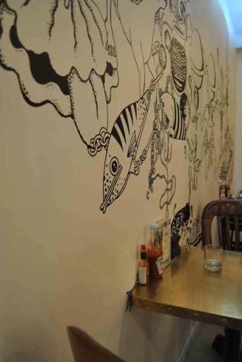 fish fresco wall decor paris