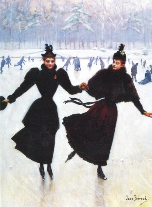 skating paris vintage