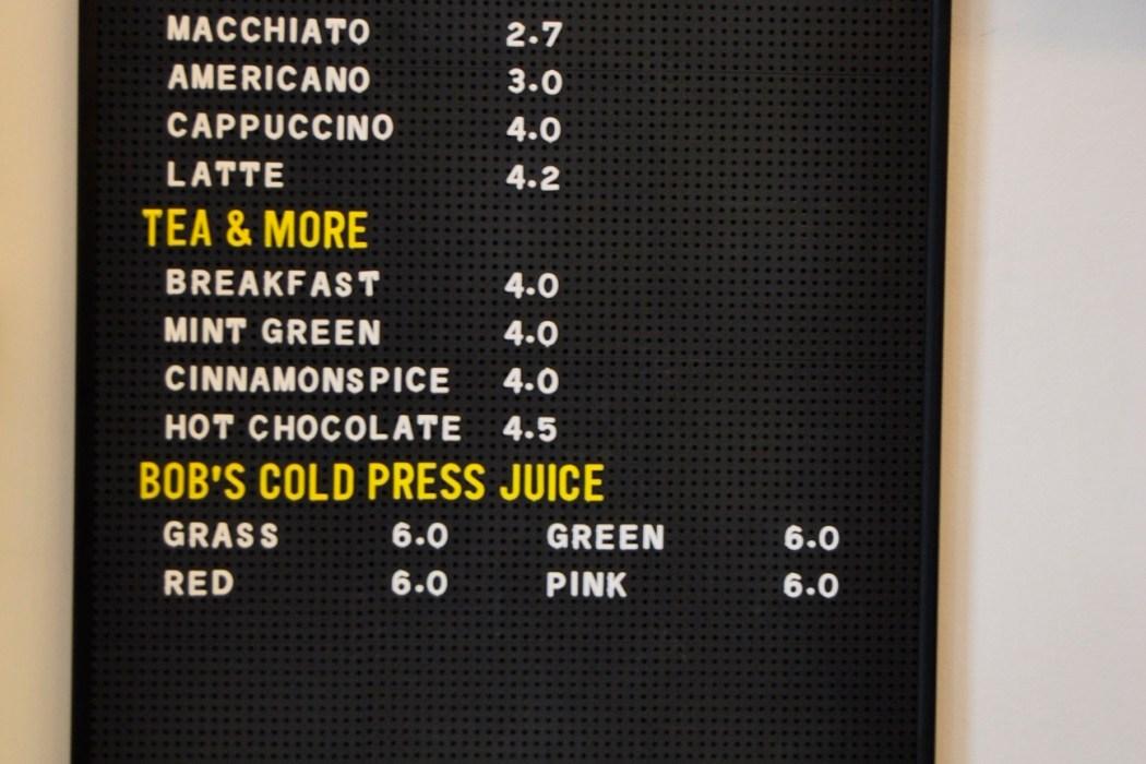kitsune cafe paris coffeeshop menu prices