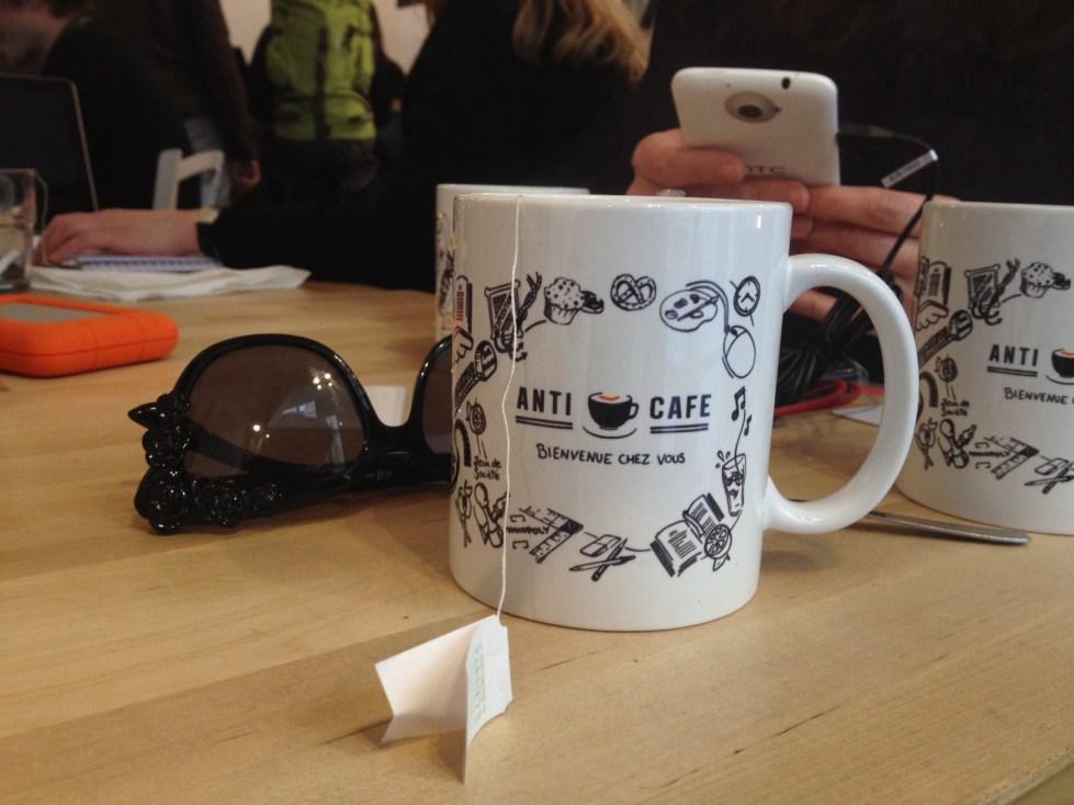 Anti cafe paris coffee mug