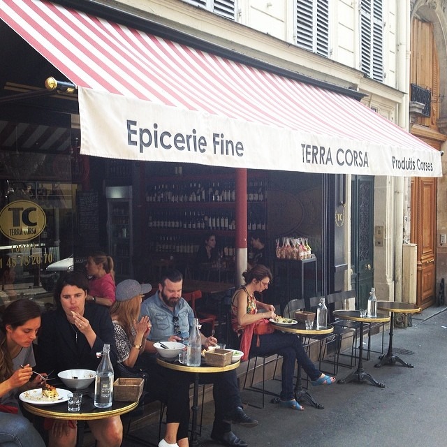 paris lunch in pigalle at terra corsa