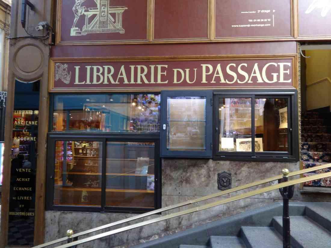 The Librairie du Passage in Passage Jouffroy