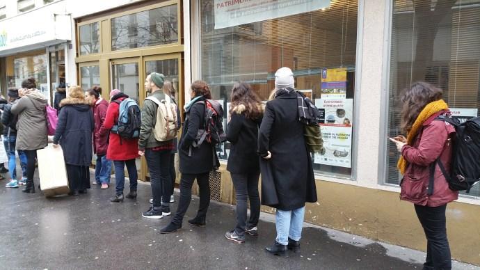 line at paris food coop kelbongoo organic local