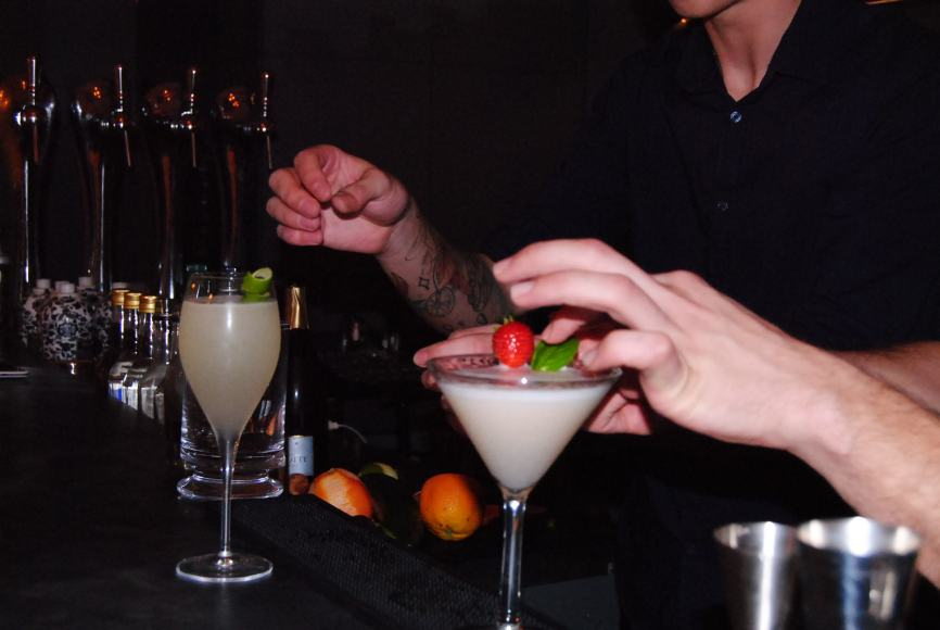 cocktails close to seine river paris