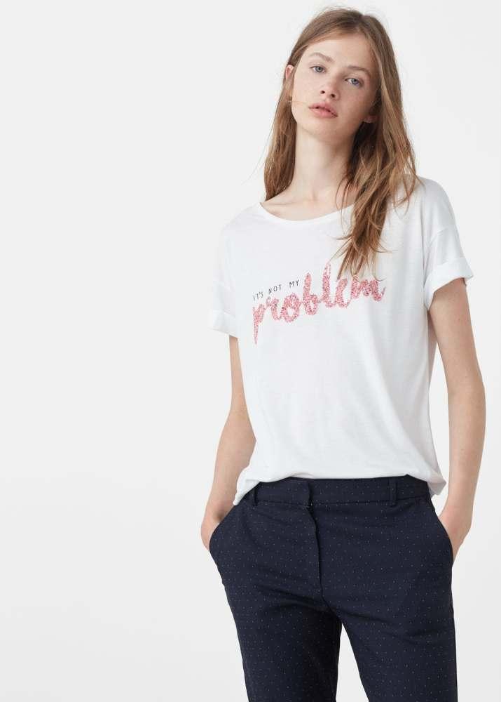 T-shirt it's not my problem mango