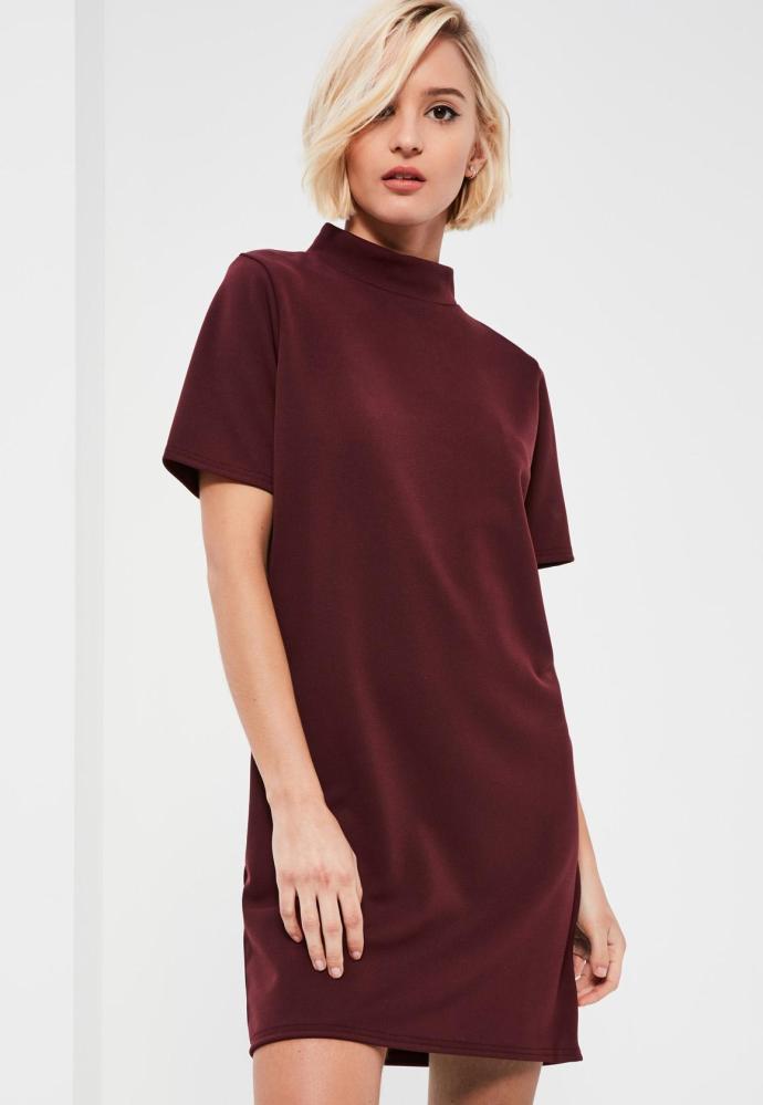 robe droite bordeaux missguided