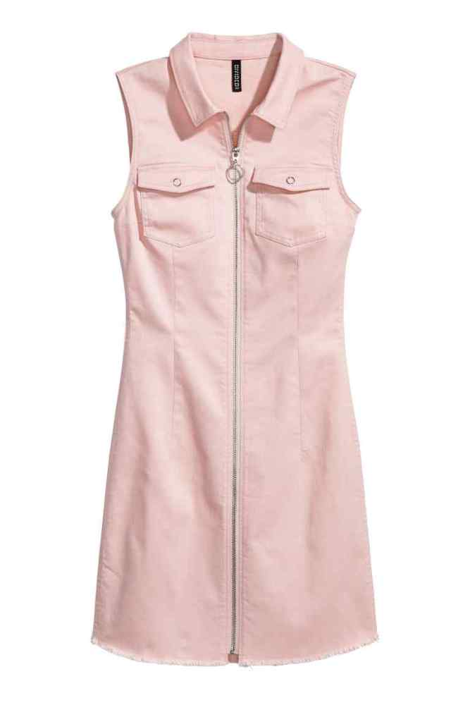 robe-jour-zippee-rose-hm