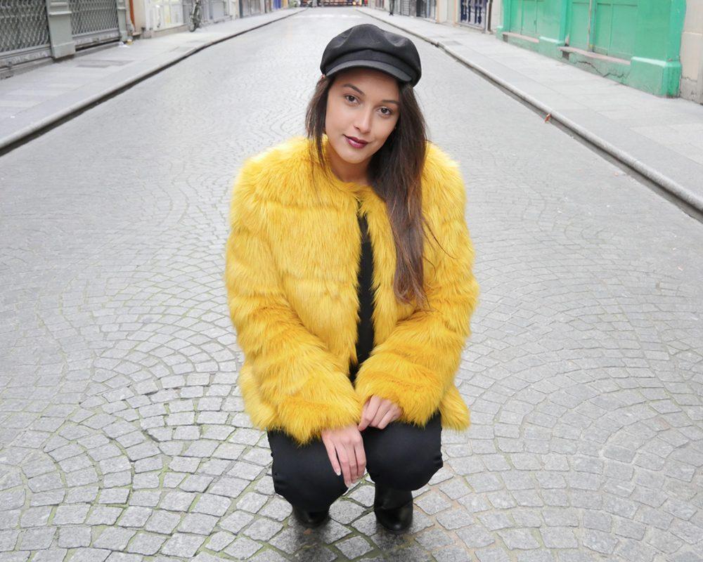 look-titi-faux-fur-jaune-plongee