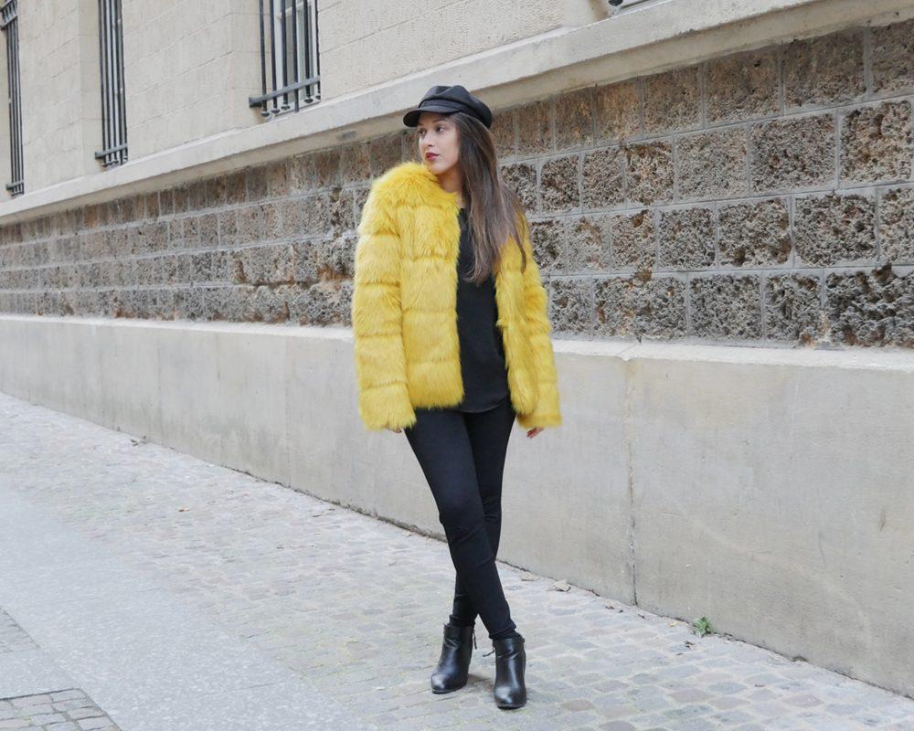 look-titi-faux-fur-jaune-une