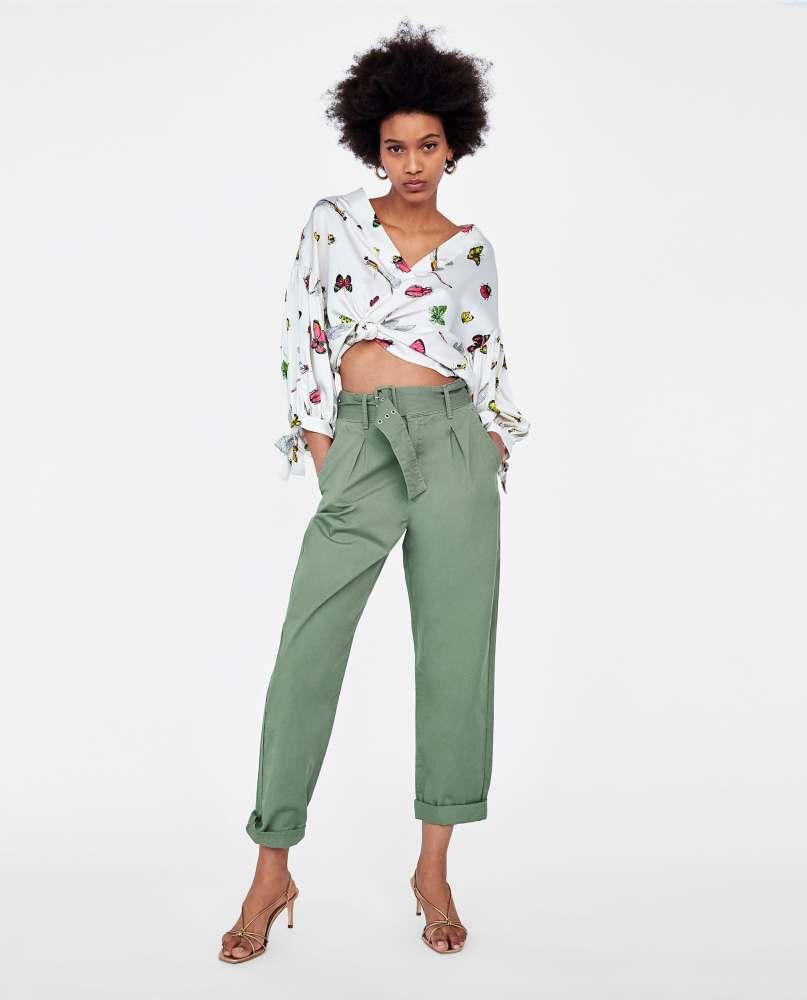 look-shopping-pantalon-paperbag-ceinture-zara