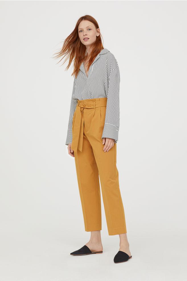 selection-shopping-pantalon-paperbag-hm-jaune