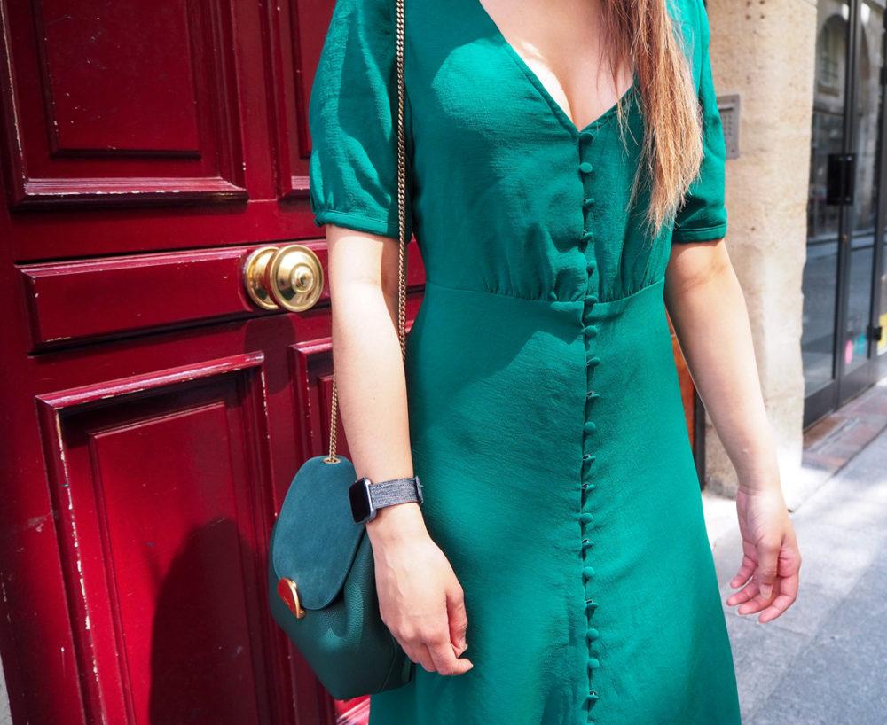 look-ete-robe-sezane-total-vert-foret-green