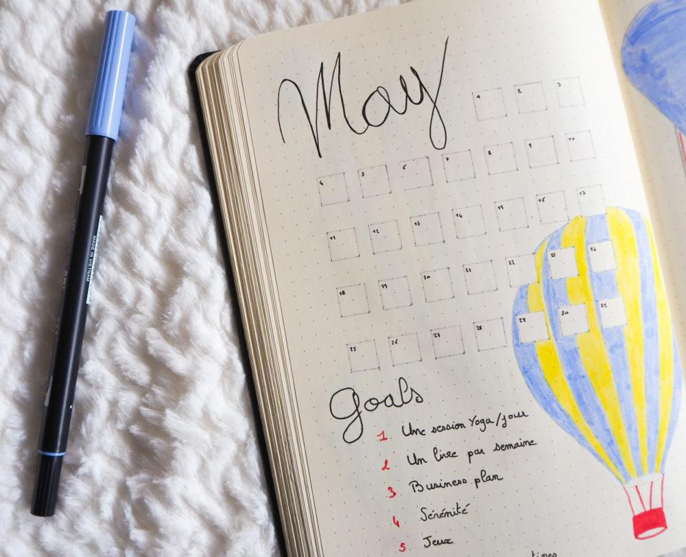 Bullet-journal-mai-monthly-view-goals