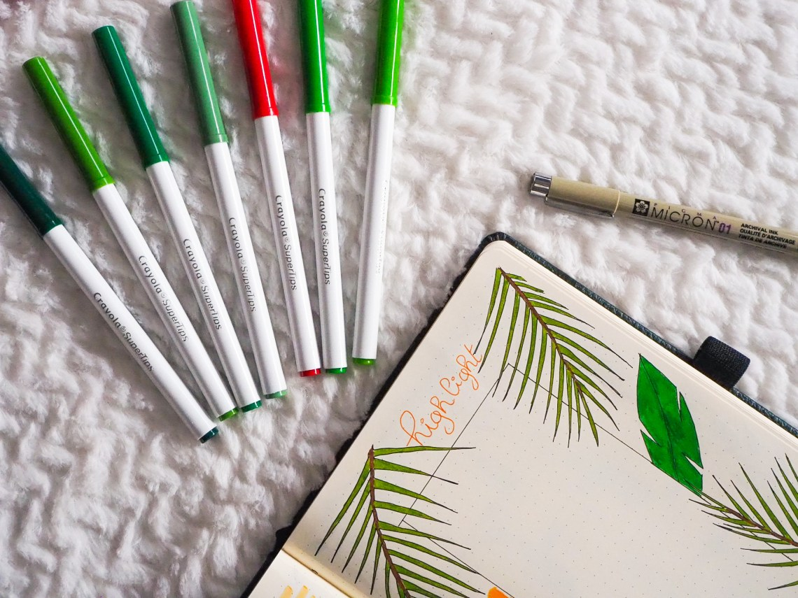 bullet-journal-juillet-highlight-page