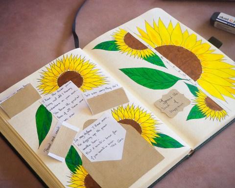 bullet-journal-kraft-and-sunflower-septembre-2020