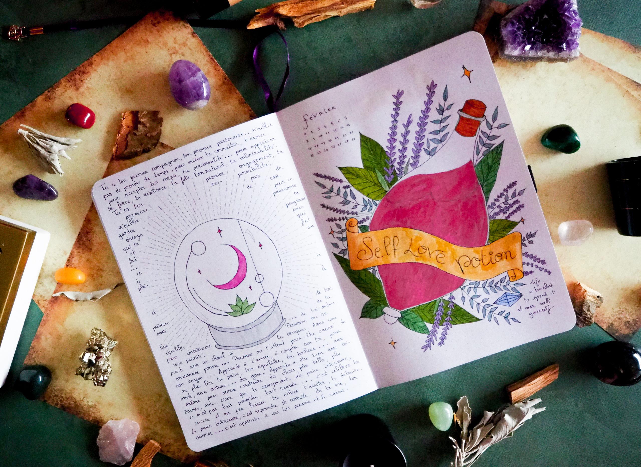 self-love-potion-bullet-journal-fevrier-2021-theme