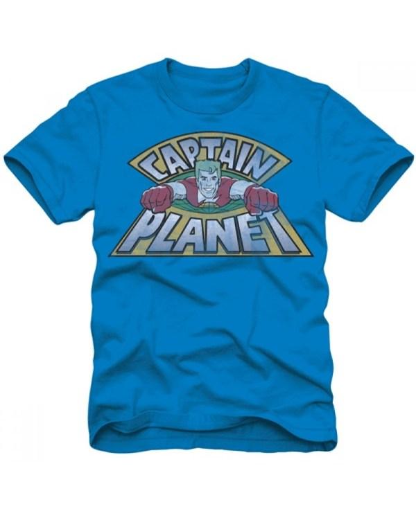 Captain Planet Flying T-shirt
