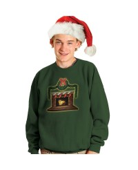 Crackling Fireplace Ugly Christmas Sweater