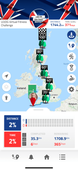 LEJOG virtual fitness challenge