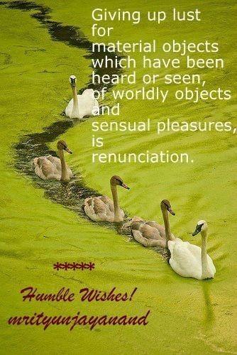 Renunciation...!!!