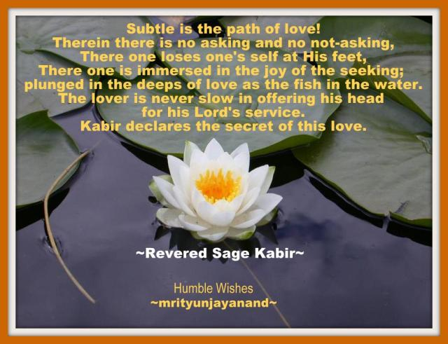 Subtle is the path of love..!