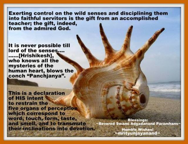 Exerting control on the wild senses and disciplining them into faithful servitors...!!!