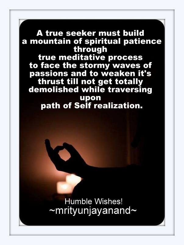 A mountain of Spiritual patience...!!!
