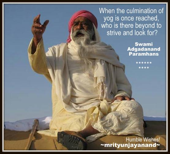 When the culmination of yog is once reached......!