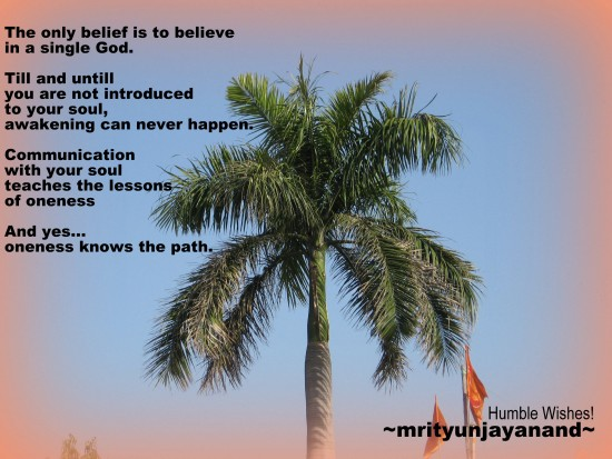 The only belief is to believe in a single God....!!!