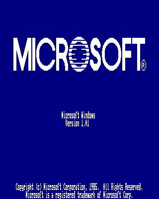 Windows 1.01 - Screenshot 1