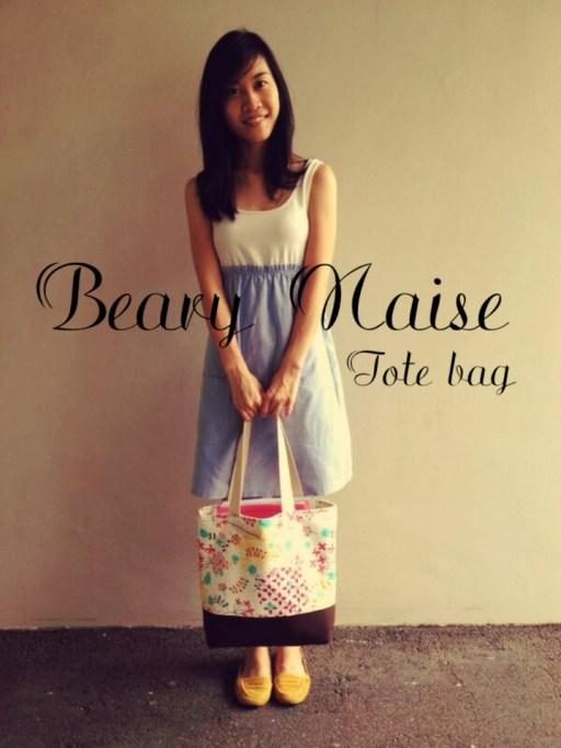 handmade tote bag singapore Beary Naise