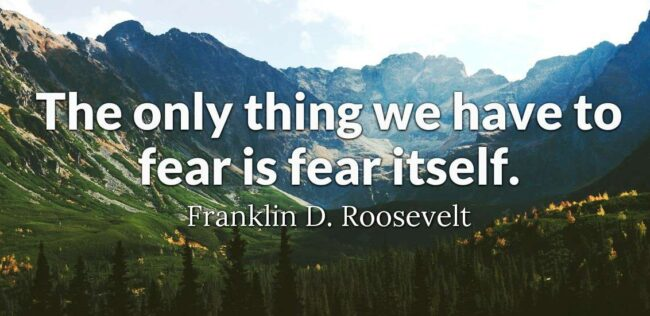 We Have Nothing to Fear Except Fear Itself