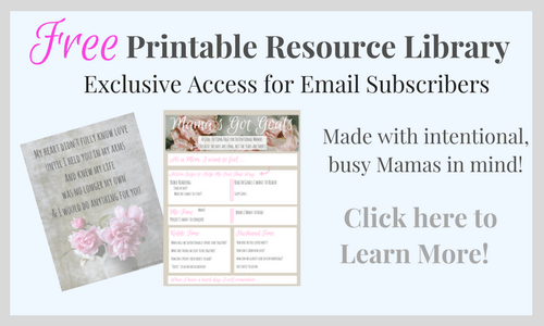 Are you a busy mama? Got goals, but never seem to get the things done that you want to? Check out this free printable!