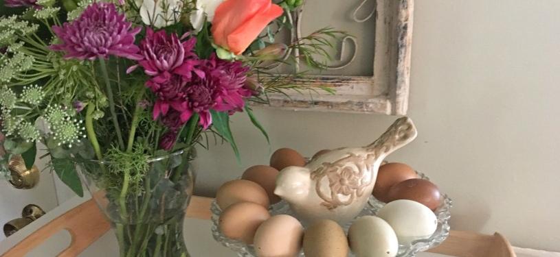 eggs & flowers