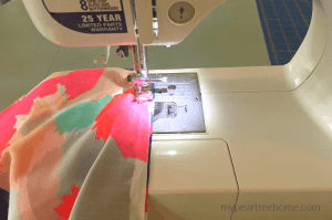 scarf tutorial with sewing machine