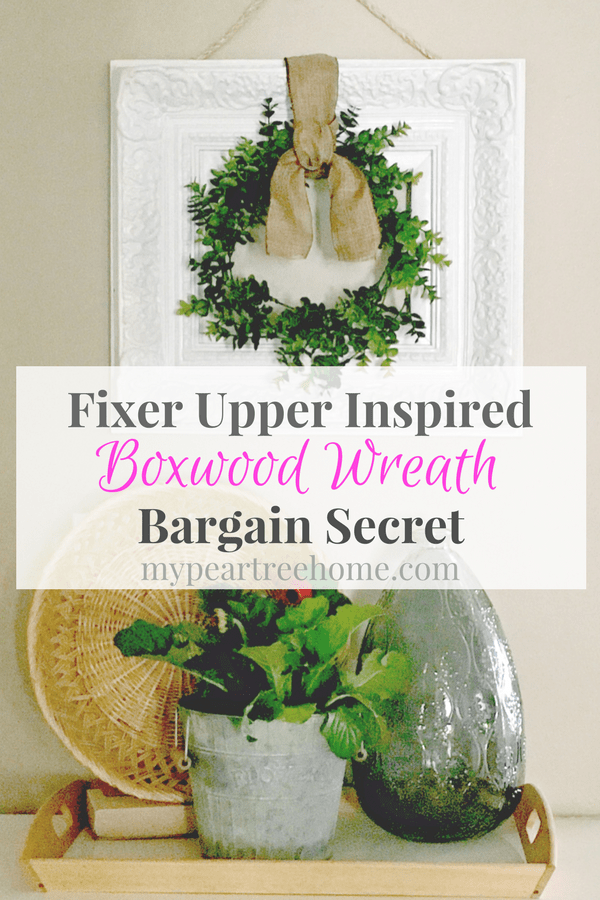 Want the secret to making a Fixer Upper style wreath? And only spend a few dollars? Check out the post to learn how!