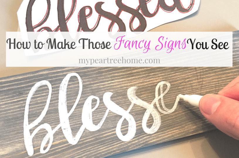DIY sign tutorial, handmade sign, blessed, faith sign