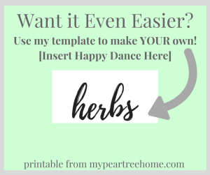 Make your own herb sign using this free template!