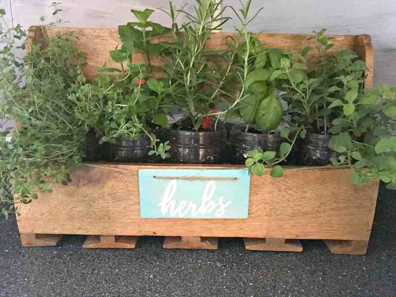 """Re-purpose your own herb planter. See the post for the printable to make your own """"herb"""" sign!"""