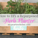 Repurposed Shelf=DIY Herb Planter *with sign printable