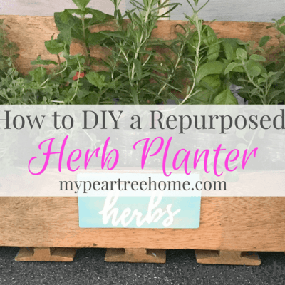 "Re-purpose your own herb planter. See the post for the printable to make your own ""herb"" sign!"