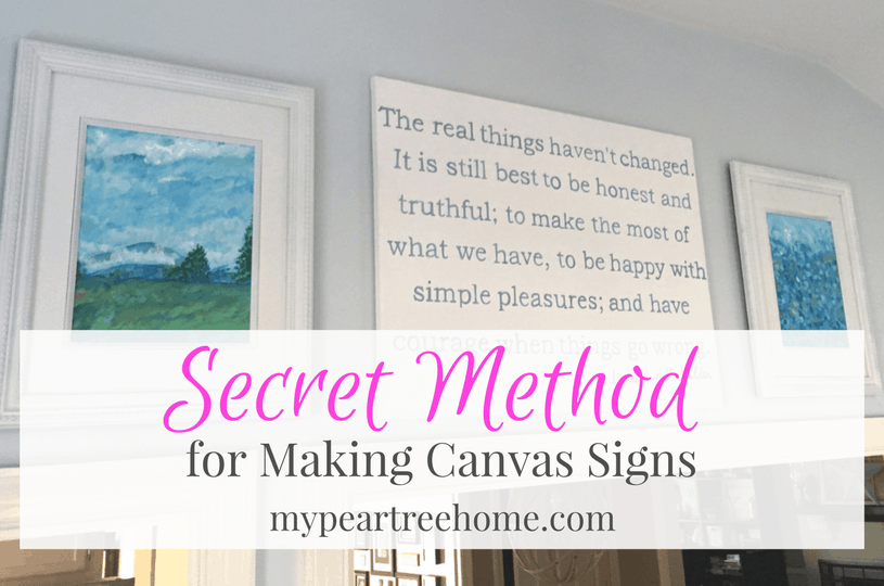 Make a Large DIY Sign on Canvas