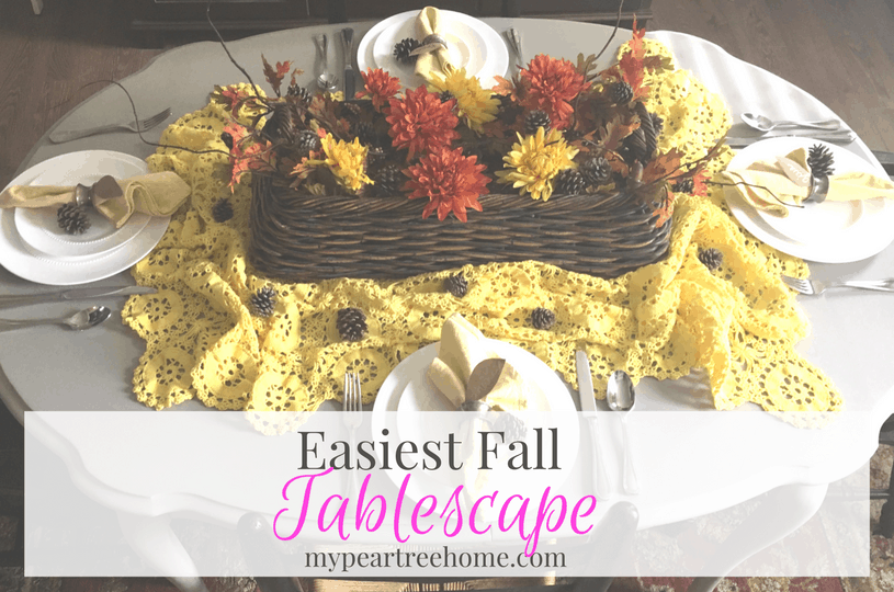 """Fall Table Decor (Using The """"Easy"""" Motto)"""
