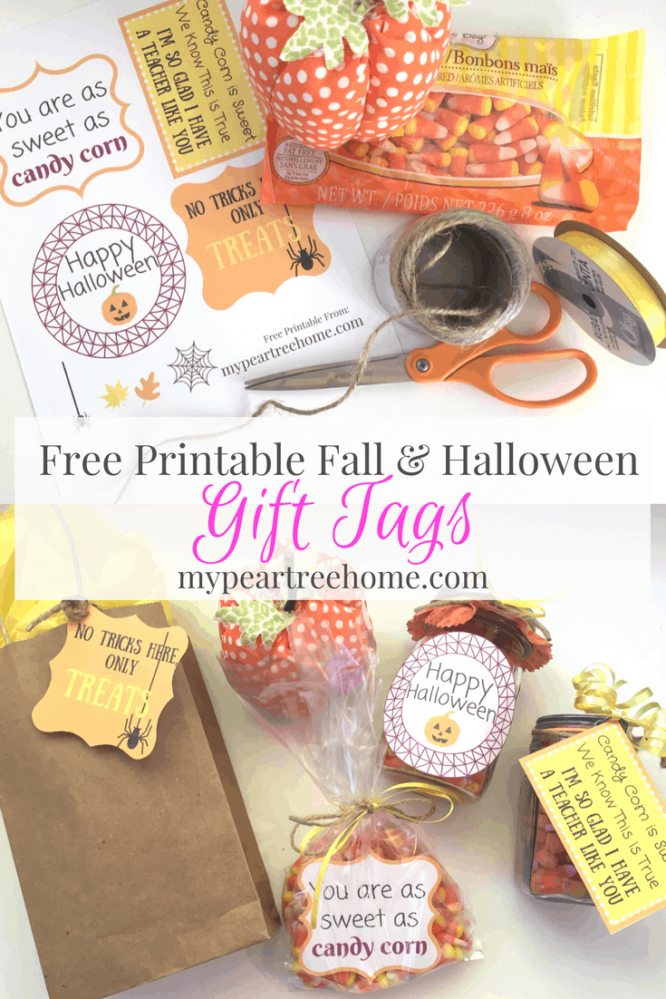 free printable gift tags for fall halloween my pear tree home