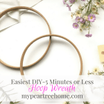 "DIY Hoop Wreath (aka ""Easiest Wreath EVER"")"