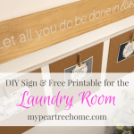 Laundry Room DIY Sign